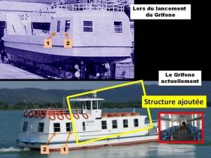 """Modifications structurelles du """"Grifone""""."""