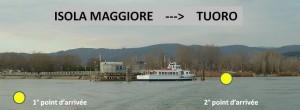 Les deux arrivages au pontile de Tuoro-Navaccia.