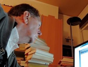 Jean travaille au blog...