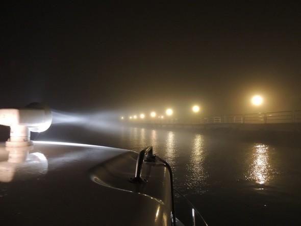 Prêt à retraverser seul vers l'Isola Maggiore - 9/01/2014,  06:00