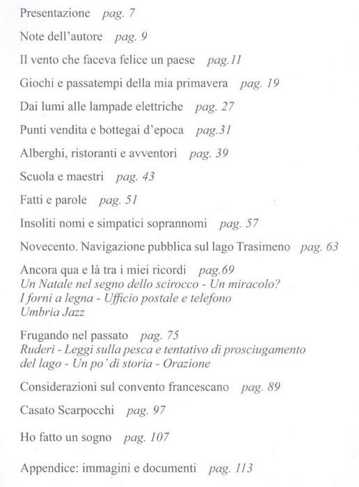 L'indice del libro.