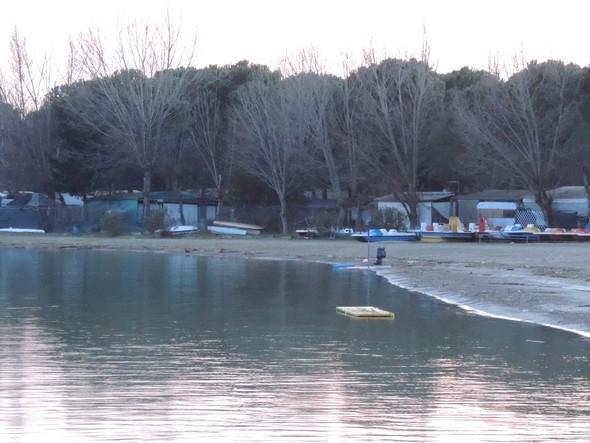 14 février 2014 :  détail de l'extrémité sud de la plage.