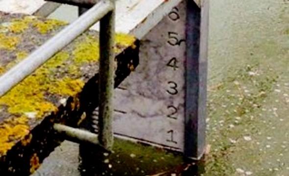 Sant'Arcangelo, le 1/02/2014, le zéro hydrométrique est atteint !