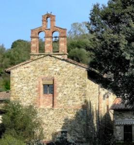 Depuis le quai de la darse de l'Isola Maggiore, une vue arrière de la chiesa Buon Gesù