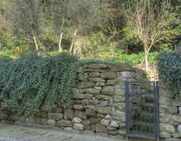 Un peu plus loin, un autre de ces jardins qui en fait remontent vers le haut de la colline et se terminent par quelques oliviers.