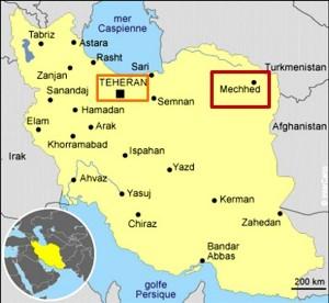 Carte d'Iran.