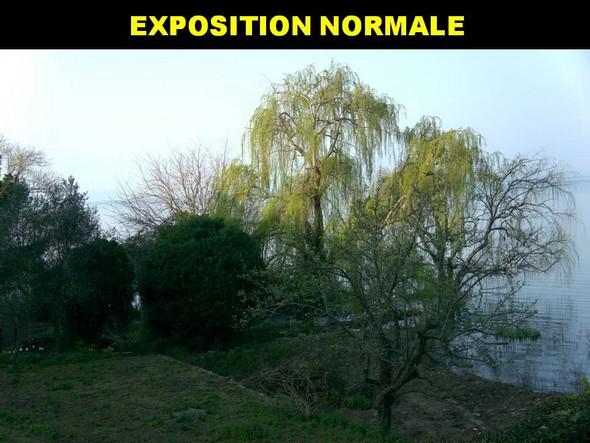 """Exposition normale en fonction de la mesure de la lumière en mode """"priorité à l'ouverture""""."""