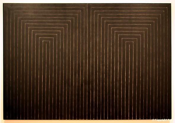 Frank Stella -  Le mariage de la raison et de la misère   III  -  1959
