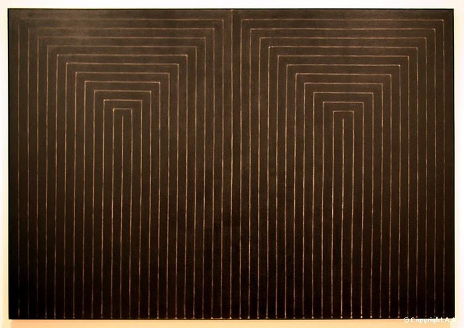 Premiers pas vers le minimalisme 1 le blog de for Frank stella peinture