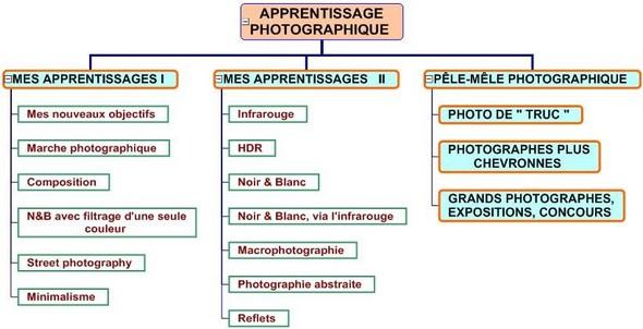 Organisation des sous-thèmes.