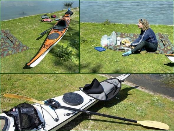 Pour un moment, leurs beaux canoë-kayaks insubmersibles, d'une longueur d'au moins 4,5 mètres, sont au repos et place au pique-nique !