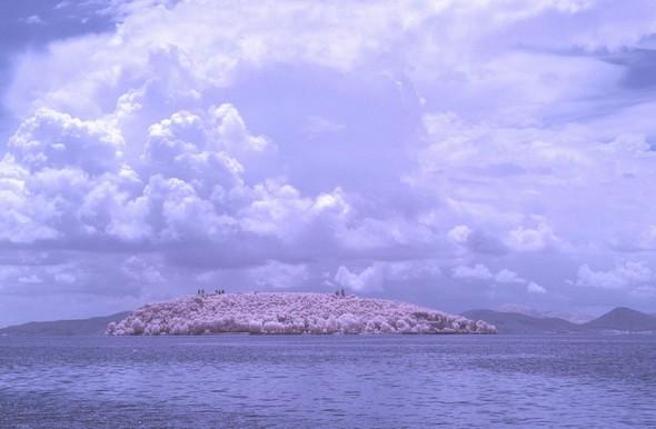 Vue de l' Isola Maggiore en infrarouge  depuis Tuoro-Navaccia.