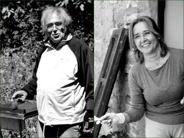 Italo Marri e sua moglie mettono i mani in pasta...