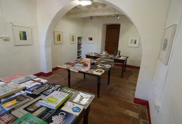 Le due sale dedicate ai belli libri d'arte.