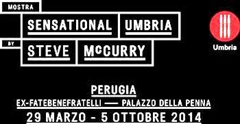 Affiche de l'exposition des photos de McCurry à Perugia.
