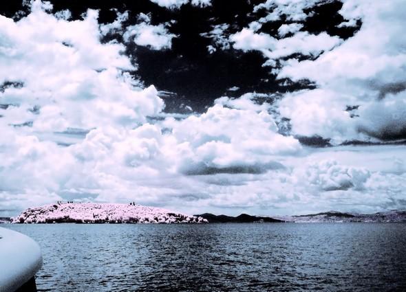 L'Isola Maggiorre photographieé lors d'un retour en hors-bord au départ de Tuoro-sul-Trasimeno,  10 juillet 2014.