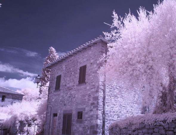 Une maison dans la via Guglielmi, unique rue de l' Isola Maggiore.