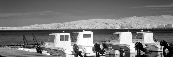 """La """"flottille"""" de l'Isola Maggiore."""