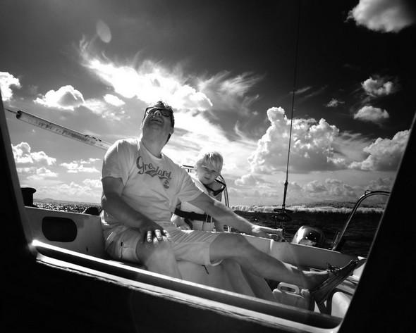 Mes amis, Erwin et Jens, ont barré à tour de rôle pendant l'entièreté de notre ballade nautique.