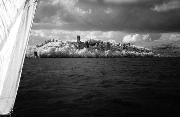 Au large de la pointe sud de l'Isola Maggiore...