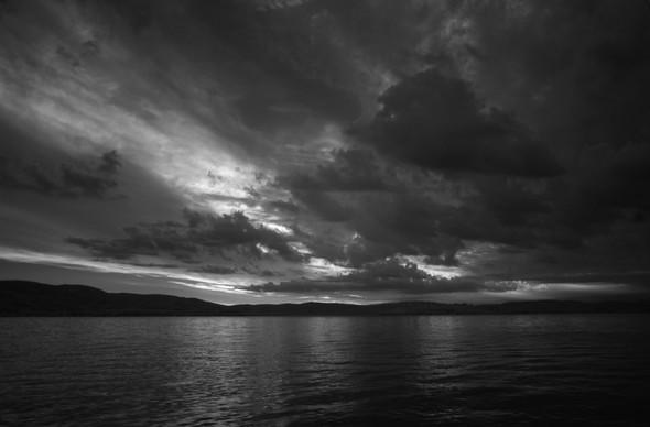 Rive est du lac Trasimène, progression du lever du jour  (1)