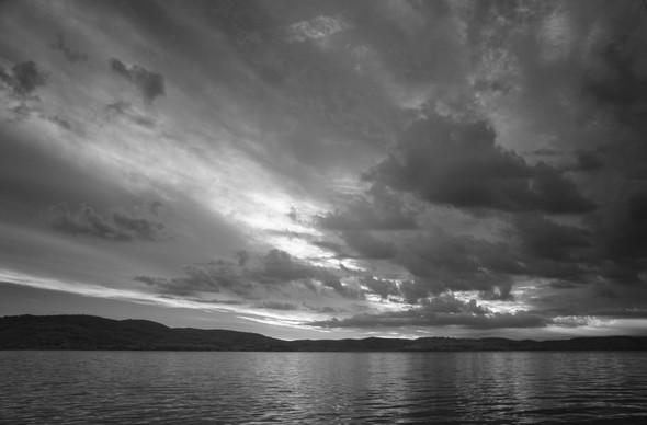 Rive est du lac Trasimène, progression du lever du jour  (3)