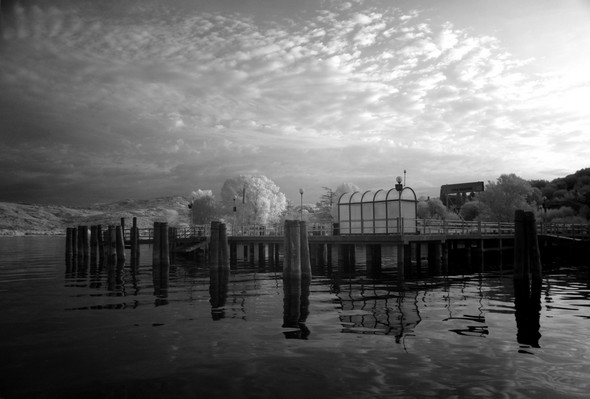 Le débarcadère de l' Isola Maggiore.