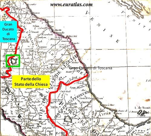 Al lago Trasimeno, l'Isola Maggiore era l'ultima propaggine di territorio dello Stato della Chiesa.