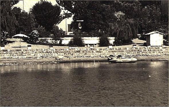 Foto della spiaggia della Villa Fiorita.
