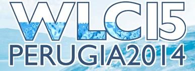Affiche de la 15° Conférence Mondiale sur les Lacs à Perugia, du 1 au 5 septembre 2014.