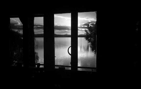 De mon bureau, vue sur le lac Trasimène au crépuscule... - Dal mio ufficio, vista sul Lago Trasimeno al crepuscolo ...