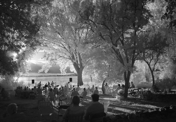 Concert de clôture à l'Isola Maggiore, au moment du coucher de soleil