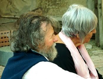 Maria Pia Minotti e Paolo Boscato, il suo marito, durante il concerto...