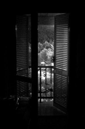 Le jardin vu de notre chambre d'hôtel à Norcia - Il giardino visto dalla nostra camera d'albergo a Norcia -