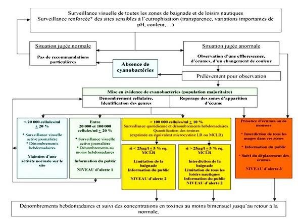 Modalités de surveillance et de gestion des eaux de loisirs (Ministère de la Santé  -  France).