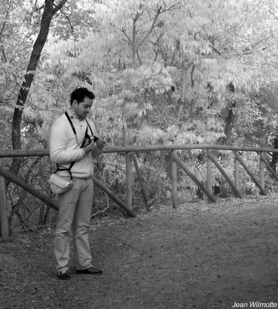 """Au sommet de la via Tre Martiri, Dinu finalise ses pré-réglages avant de démarrer notre premier """"safari photo"""" sur l'Isola Maggiore..."""