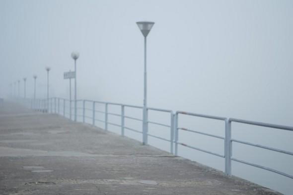 Le débarcadère de Tuoro-Navaccia noyé dans un brouillard des plus épais   -   24/11/2014,  16:00