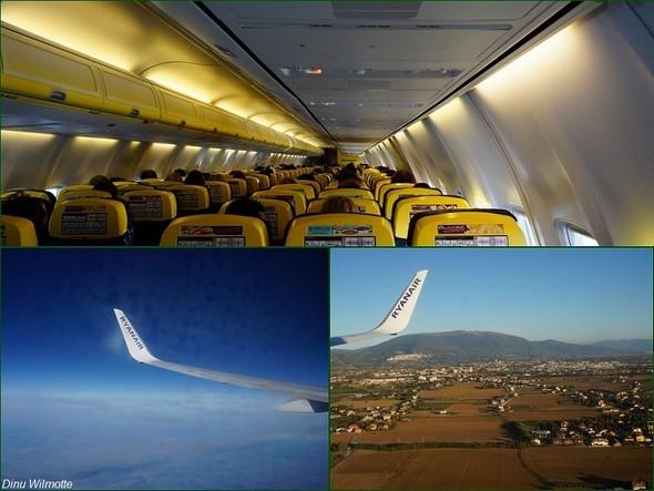 Vol Ryanair Brussel-South-Charleroi /  Pérouse - Sur la photo en bas à droite, à l'arrière-plan, on devine Assise accroché dans les collines.