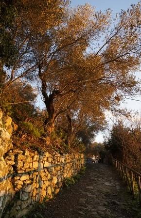 La via Tre Martiri un peu plus haut que notre maison.