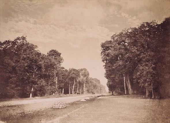 Perspective du pavé de Chailly, autre ciel nuageux Gustave Le Gray, 1852-1856