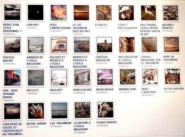 Tableau avec les 29 albums photographiques actuellement disponibles dans notre galerie FLICKR.