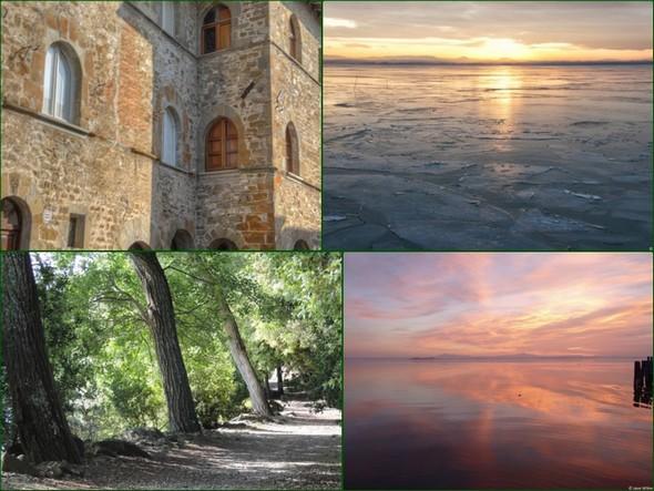 Exemple de quatre photos que j'utilise pour l'arrière-plan de mon bureau.