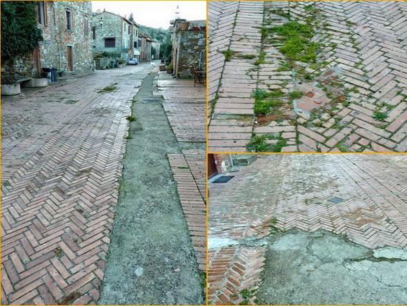 Marzo 2011 : stato deplorevole del rivestimento di via Guglielmi.