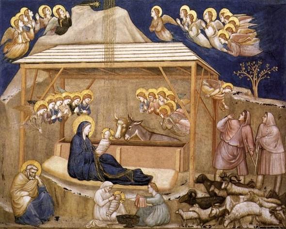 Nativitàtransetto nord, Basilica inferiore di San Francesco, Assisi. Giotto Di Bondone.