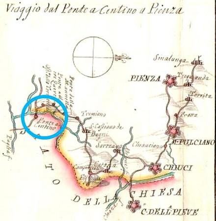 La frontière à Pontecentino.