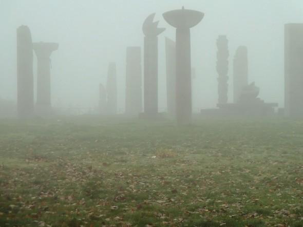Brouillard du 18/11/2011.De près l'ambiance d'un lieu étrange est accentué.