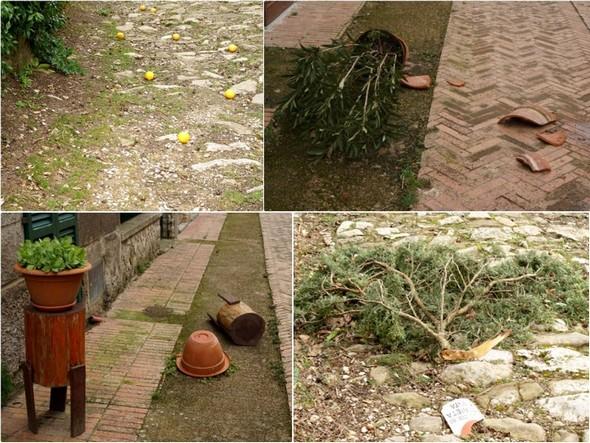 Via Guglielmi : que des dégâts majeurs (1)