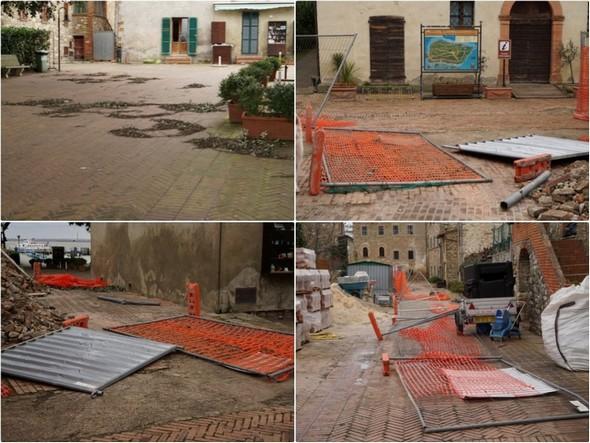 Via Guglielmi : les barrières du deuxième chantier de réfection du pavement de la rue ont remis cela !