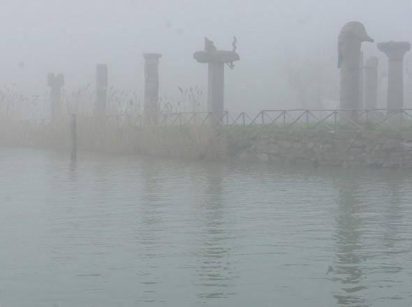 """Vue en sortant du Porto del Sole avec notre """"pilotina""""."""