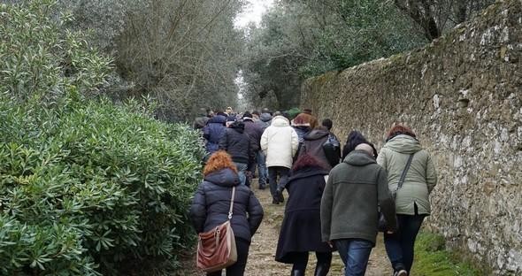 L'ultimo sforzo, ma il più duro: la salita della strada di San Michele Arcangelo.